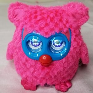 "5"" Fuzzy Wonderz Pink Owl Interactive Talking Toy"